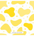 seamless pattern fluid yellow background graphics vector image