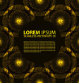 seamless yellow glowing ethnic pattern vector image vector image