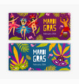 set of festive web banner templates with dancers vector image vector image