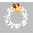 snowflake white bells vector image vector image