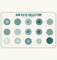 sun rays and beams collection fifteen vector image