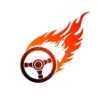 symbol burning automobile steering vector image vector image