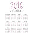 The 2016 calendar vector image vector image