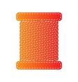 Thread sign Orange applique isolated vector image