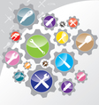Tool icon design Object tool and Wrench with vector image vector image
