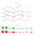 trading infographic elements isolated on white vector image
