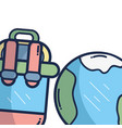 travel and summer cartoons vector image