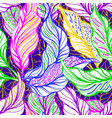 tropical foliage seamless pattern exotic vector image vector image