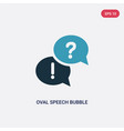 two color oval speech bubble icon from shapes vector image vector image