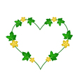 Vine Flowers and Leaves in Beautiful Heart Shape vector image vector image