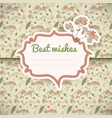 vintage flowers card vector image vector image