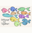 with simple design cute colorful vector image