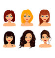 young pretty women with cute faces fashionable vector image