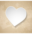vintage background with a paper heart vector image