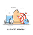 business strategy planning project management vector image