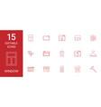 15 window icons vector image vector image