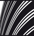 abstract background black and white curve lines vector image vector image