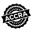 Accra stamp rubber grunge vector image vector image