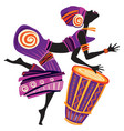 afro women dancing vector image