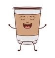 animated disposable recipiente for hot drinks vector image vector image