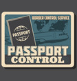 aviation air travel passport and border control vector image vector image