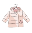 Baby coat girl sketch for your design vector image