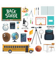 back to school icon of education supplies and item vector image vector image