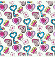 background with letters and heart and key from vector image vector image