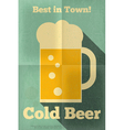 beer poster single vector image vector image