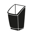 black and white trash bin silhouette vector image vector image