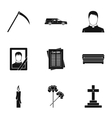 Burial icons set simple style vector image vector image