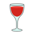 cartoon glass of red wine isolated vector image vector image