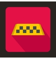 Checker taxi icon flat style vector image vector image