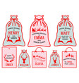 christmas bags stockings set vector image vector image