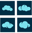 cloud tech logo vector image vector image