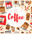 coffee seamless pattern drink decorative icons vector image vector image