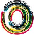 Colorful Grunge font LETTER O vector image vector image
