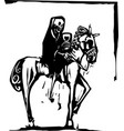 death drinking wine on horse vector image vector image