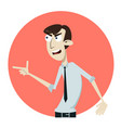 dissatisfied and displeased business man sangry vector image vector image