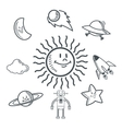 doodle icon design space icon draw concept vector image vector image