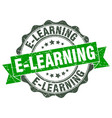 e-learning stamp sign seal vector image vector image