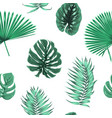 exot tropical green leaves seamless pattern float vector image vector image