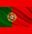 flag portuguese republic realistic vector image vector image
