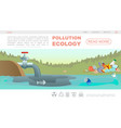 flat ecology pollution webpage concept vector image vector image