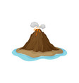 flat icon of volcanic eruption with hot vector image vector image