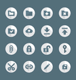 flat style various file actions icons set vector image vector image
