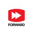forward video graphic icon design template vector image vector image