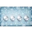 Four christmas balls with ribons vector image vector image