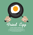 Fried Egg In A Pan EPS10 vector image vector image