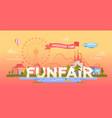 funfair - modern banner vector image